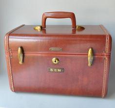 leather train case