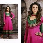 Indian designer House has shown the Karishma Kapoor Anarkali Suits 2014 typically designed for the party wear and coming festival of EId ul Fitar. Karishma Kapoor is Bollywood Actress and celebrity.