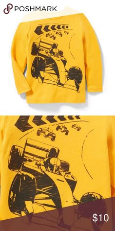 9832e6c996aa NWT Yellow Racecar Printed Long Sleeve Top 2T NWT Yellow Racecar Printed  Long Sleeve Top 2T New. Retails for  13 Old Navy Shirts   Tops Tees - Long  Sleeve