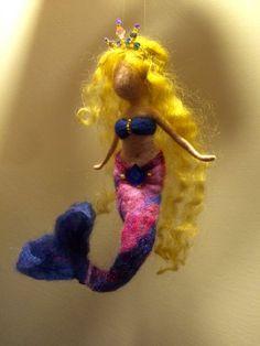 Naiad Eko toy Felt toy Needle felted Mermaid Mermaid Wool figurine Original gift,100/% Pure Wool Water Nymph