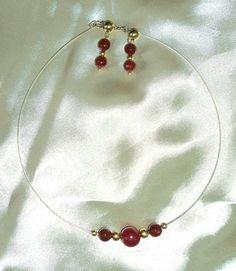 Collar coral rojo