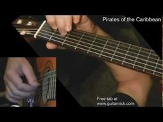 PIRATES OF THE CARIBBEAN: Fingerstyle Guitar Lesson + TAB by GuitarNick - YouTube
