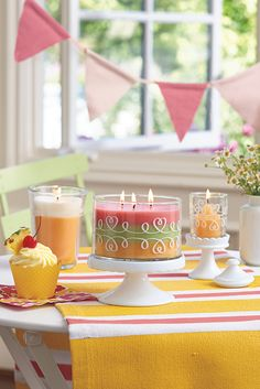 Delight in the mouthwatering scent of Pineapple Upside Down Cake – rich, moist batter topped with sweet pineapples in a buttery sugar glaze. Add some tropical inspiration to your summer tablescapes, wedding and baby showers, entertaining or every day. Find jar candles, melts, votives and tealights and more at www.partylite.com