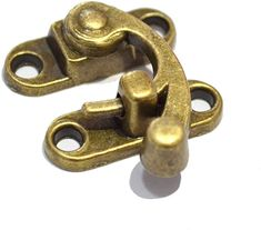20 Pieces Antique Bronze Right Latch Hook Hasp with Replacement Screws Horn Lock Wood Jewelry Box Latch Hook Clasp for DIY Jewelry Box