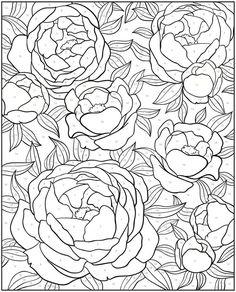 creative haven floral design color by number coloring book - ค้นหาด้วย Google