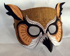 Owl Mask PDF Pattern. $5.00, via Etsy.