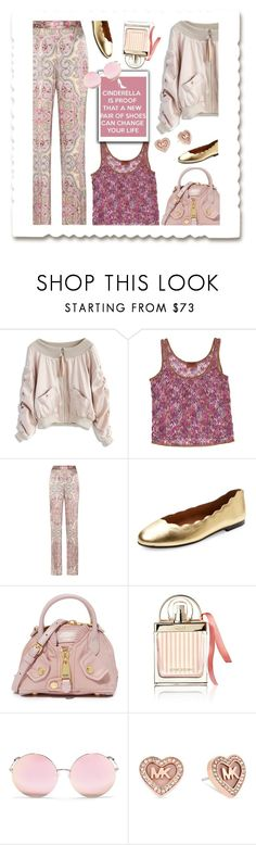 """""""Cinderella"""" by sara-cdth ❤ liked on Polyvore featuring Chicwish, Missoni, Etro, French Sole FS/NY, Moschino, Chloé, Matthew Williamson and Michael Kors"""