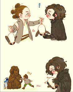 Rey got Ben a porg