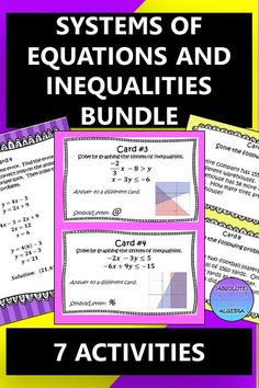 using elimination/addition to solve systems of equations activity answer key
