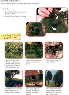 Modeling Bushes and Tree Foliage - School Project - How To Diorama - School Display