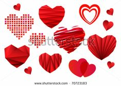Valentine's Day Heart Collection - stock vector