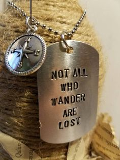 Not all who wander are lost. Hand stamped dog by ScrappamStudio