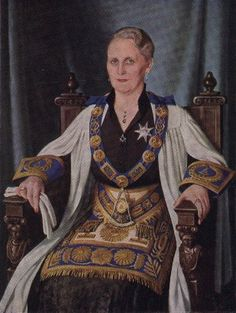 Grand Master M. W. Bro Mary Gordon Muirhead Hope, Initiated in Lodge Golden Rule No 1 on Feb, 1918, remained in office until 1962 - http://www.brad.ac.uk/webofhiram/?section=order_women_freemasons&page=traditional_history.html