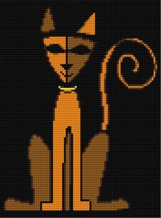 free cross stitch cat