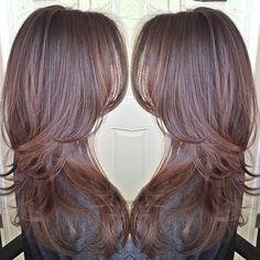 Brown hair with beautiful layers<3 Looking for ideas for a little change but still be able to keep my hair long.
