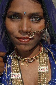 Rajasthan India, Faces, Rajasthan Gypsy  puspa <3