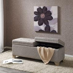 Upholstered Bench Home Goods: Free Shipping on orders over $45 at Overstock.com - Your Home Goods Store! Get 5% in rewards with Club O!