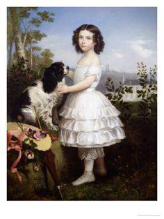 1832 Girl and Dog