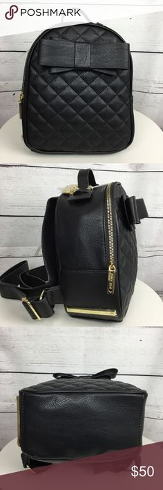 801df5e674b8 Betsey Johnson Black Bow Mini Backpack- NWT Betsey Johnson Black Bow Mini  Backpack Measures approx