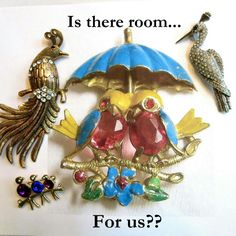 Better get under that umbrella!  #teamlove #vintage #fashion #jewelry #fallfashion # brooches #christmasgifts #giftsformom #giftsforher #rhinestones #photochallenge - Day 7 #Umbrella  www.myvintagejewels.etsy.com