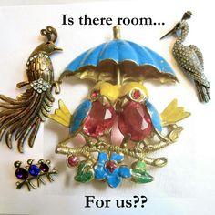 Better get under that umbrella!  #teamlove #vintage #fashion #jewelry #fallfashion # brooches #christmasgifts #giftsformom #giftsforher #rhinestones #photochallenge - Day 7 #Umbrella  www.myvintagejewels.etsy.com