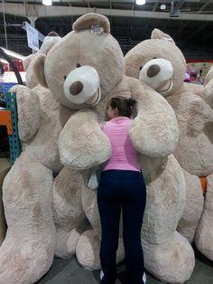 A Teddy Bear! Loving this enormous teddy bear from Costco Huge Teddy Bears, Giant Teddy Bear, Love Bear, Big Bear, Costco Bear, Giant Stuffed Animals, Teddy Girl, Animal Quotes, Cool Pets