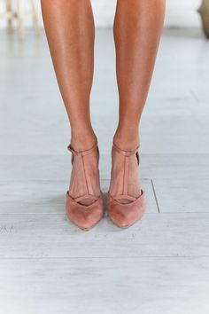 Payton Peach Wedge Heels