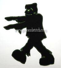Frankenstein Silhouette Applique Design