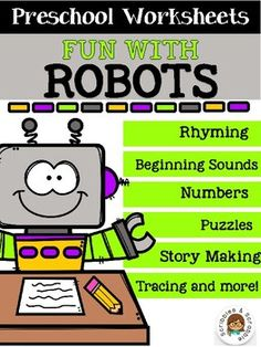 by Scribbles and Scrabble Science Resources, Reading Resources, School Resources, Teacher Resources, Decoding Strategies, Robot Theme, Create Your Own Story, Writing Numbers, Little Learners