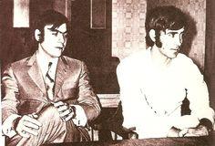 Dos jovenes Miralles y Serrat.