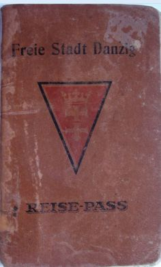 Passport of the Free City of Danzig Danzig, Gdansk Poland, Central Europe, City, Free, 1920, April 3, Passport, Spaces