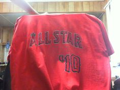 ALL STAR GAME 2010 RED T-SHIRT XL  LOS ANGELES ANGELS NEW SGA ANAHEIM