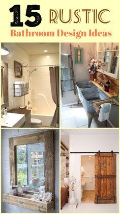 15 New Rustic Bathroom Descoration Ideas #smallbathroom