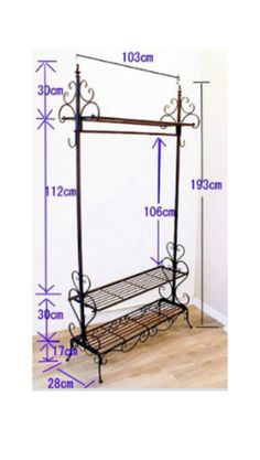 fwatmart | Rakuten Global Market: Multifunction made in wrought iron coat hanger rack clothing storage shelf storage furniture sturdy hanger Rack storage furniture clothes hanging variety of hangers closet indoor clothesline Paul Paul stand Hat hanging towel hunger, such as applications