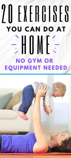 20 home exercises that you can do to help you lose weight. There's no need to go to the gym. Use these videos to help you learn each exercise then put together you own home workout routine. Fitness Quotes, You Fitness, Fitness Motivation, Home Exercise Program, Home Exercise Routines, Easy Workouts, At Home Workouts, Workout For Beginners, Going To The Gym
