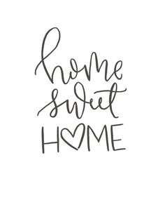 quotes Home Sweet Home // Brush Script Quote // Digital Print // Hand-Lettered Brush Script, Sweet Home, Calligraphy Doodles, Calligraphy Handwriting, Love Caligraphy, Modern Calligraphy Quotes, Calligraphy Letters, Hand Lettering Quotes, Quotes In Cursive