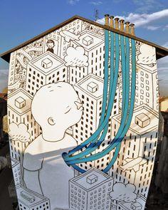 Murales street art de Millo en Turín