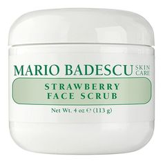 Women's Mario Badescu Strawberry Face Scrub ($15) ❤ liked on Polyvore featuring beauty products, skincare, face care, face cleansers, cute fillers, no color, mario badescu skin care, exfoliating face wash and exfoliating facial cleanser
