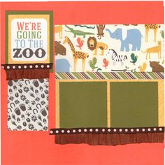 2 page Scrapbooking Layout Kit Going to the Zoo  by CropALatteToGo, $10.00
