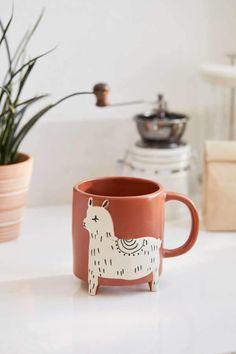 Shop Llama Ceramic Mug at Urban Outfitters today. Ceramic Cafe, Ceramic Mugs, Stoneware, Marble Mugs, Ceramic Bowls, Cute Coffee Mugs, Cute Mugs, Pretty Mugs, Coffee Cups
