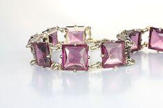 Art Deco crystal bracelet amethyst crystal bracelet by RMSjewels