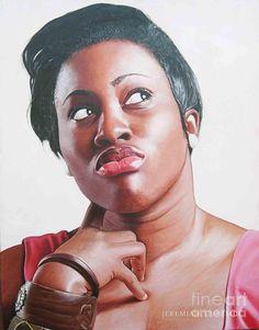 Jeremiah Quarshie Paints Realistic Portraits of Ghanaian Women. Black Fashion Designers, Black Models, Artist Art, Black Art, Contemporary Artists, Graphic Design, Fine Art, Portrait, Drawings