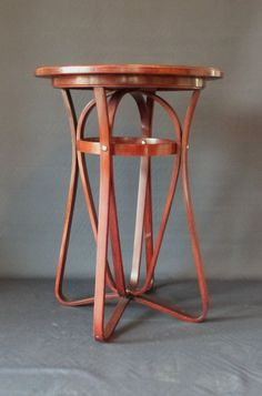 Table d'appoint KAMMERER par Thonet N°8042 en bois courbé,  - Ca. : 1906