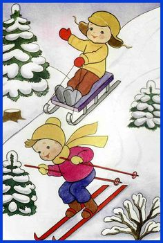Winter Activities For Kids, Winter Images, Snowy Day, Teaching Kindergarten, Winter Time, Christmas And New Year, Pre School, Cute Art, Art Lessons