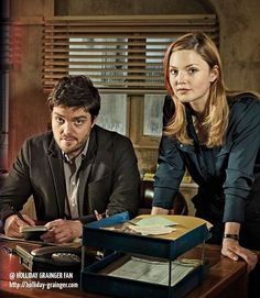 Strike / Tom Burke and Holliday Grainger Tom Burke Cormoran Strike, Bbc C, Holliday Grainger, Bbc Musketeers, Detective Series, Bbc America, Tv Quotes, British Actors, Movies And Tv Shows