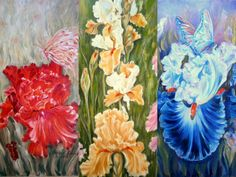 """""""In the World of Iris painting oil on canvas, by Aurora Lunic Aurora, Iris, Oil On Canvas, World, Painting, The World, Irises, Painted Canvas, Painting Art"""