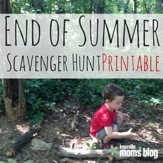 End of Summer Scavenger Hunt Printable | Knoxville Moms Blog, free printables, kid activities