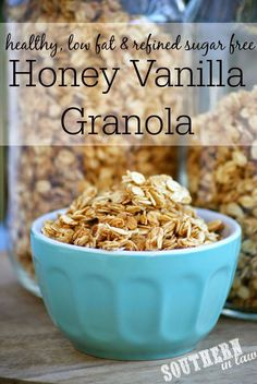 Made it- Really easy and fast and crunchy. It had a funny aftertaste, though, which might have been the egg? I'll have to try again to see. It tasted fine with yogurt, though. Southern In Law: Recipe: Healthy Homemade Honey Vanilla Granola