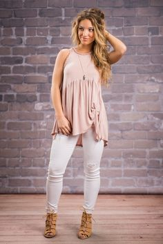 """""""All In The Details Tank, Rose""""This tank is very similar to one that you have adored in the past. But we think tank must just take it's place! This tank has the same cut that you love but this one has a different crochet detail around the trim. #newarrivals #shopthemint"""