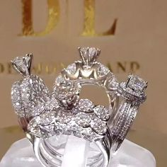 Most popular form of diamond jewelry is that of an engagement ring. With millions of couples getting engaged or married each year, many diamond engagement or wedding rings will be purchased Expensive Wedding Rings, Cool Wedding Rings, Beautiful Wedding Rings, Buying An Engagement Ring, Engagement Wedding Ring Sets, Engagement Ring Settings, Diamond Bands, Diamond Wedding Bands, Diamond Jewelry